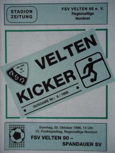 Spandauer SV Programm 1996//97 FSV Velten 90