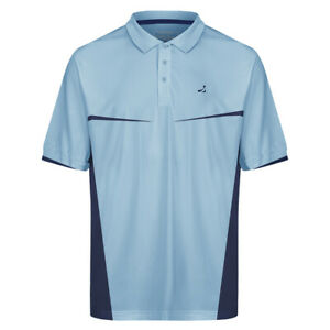 Mens-Quick-Dry-Crease-Resistant-Contrast-Golf-Polo-Shirt-Sky-Blue-Navy