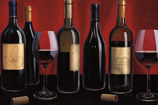 Marco Fabiano  Grand Reserve Fertig-Bild 60x90 Wandbild Wein Bar Flaschen