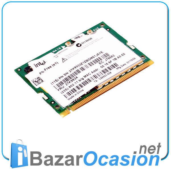 Karte Wifi Wireless Mini PCI Intel pro 2200BG für Portable in Ovp Minipci