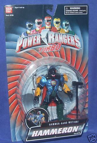 Power Rangers Turbo Martillo movimiento Hammeron nuevo 5  sellado de fábrica 1997