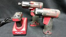 """Snap-On CT761QC 14.4V Microlithium + CT625 7.2V 1/4"""" Cordless Impact Wrenches"""
