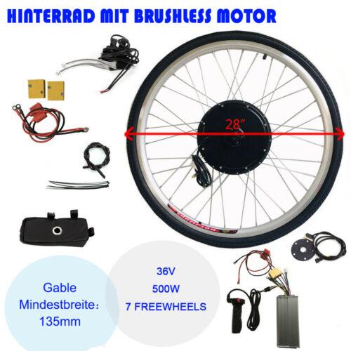 "Hinterrad 28"" E Bike Conversion Kit 36V 500W Ebike Elektrofahrrad Umbausatz Neu"