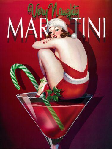 Bar Gift Retro metal Sign//Plaque Wall vintage Very Naughty Martini