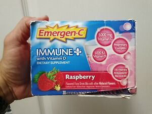 Emergen-C Immune Plus, Raspberry, 30 Packets (1 Box ...