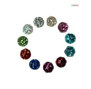2-Balls-Jewlled-Lip-Labret-Belly-Naval-Bar-Spare-Piercing-REPLACEMENT-4-6mm