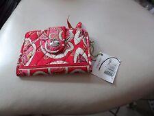 Vera Bradley snappy wallet in Rosy Posies retired  pattern NWT
