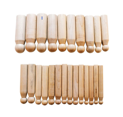 Imbottitori 24 pezzi in legno di misure diverse per lavorazioni su lamine