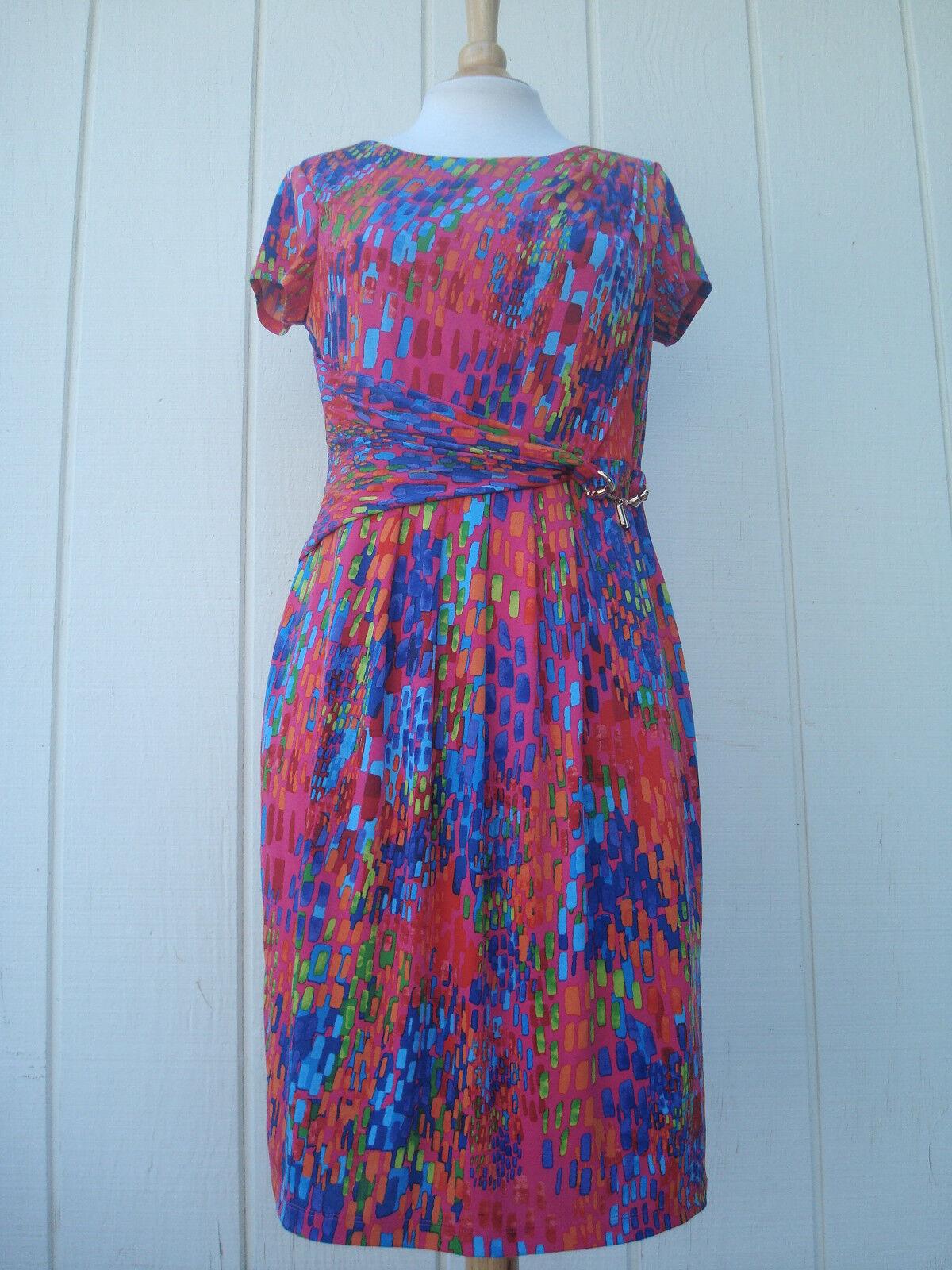 ba06a588db New Ellen Tracy Multi-color Cap Sleeve gold Women s Dress Sz 8 nrndhc2672- Dresses