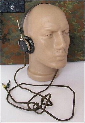 WWII ORIGINAL GERMAN RADIO HEADPHONES - SIEMENS DRGM