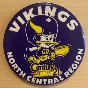 Minnesota-Vikings-Button-Pin-3-5-Inch-Near-Mint-Vintage-Super-Bowl-Era
