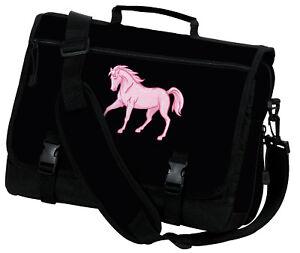 Image is loading Pink-Horse-Messenger-Bag-BEST-UNIQUE-MESSENGER-SCHOOL- 551559b5a8ed9