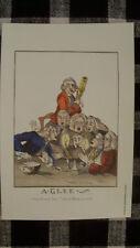"""Colonial Williamsburg Macaroni Print 6""""x9"""" Wall Art A Glee Singers Choir Music"""