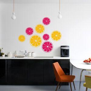 00482 Wall Stickers Adesivi Murali carta da parati frutta Spicchi ...