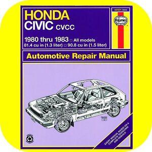 Image Is Loading Repair Manual Book Honda Civic 1300 1500 80