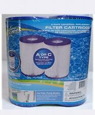 Summer Escapes Type A or C Pool Filter Cartridges Twin Pack
