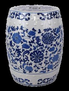 Terrific Details About Blue And White Porcelain Floral Motif Garden Stool 18 Inzonedesignstudio Interior Chair Design Inzonedesignstudiocom