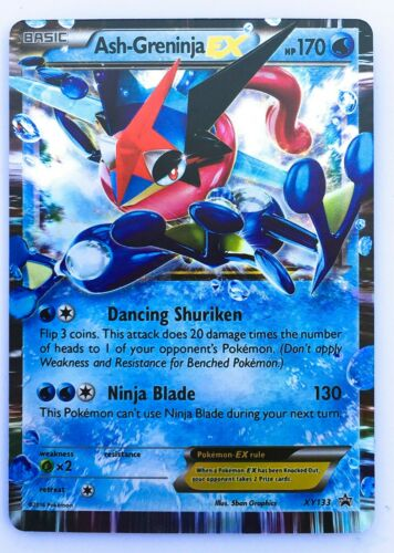 Ash Greninja EX Card XY133 Matt Gold Card with Box Free 1 GX card