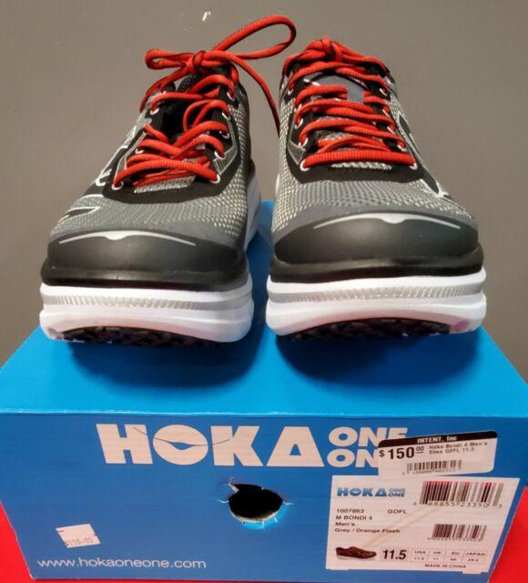 New Hoka One One Bondi Men's Shoe Grey/Orange Size 46 EU 11.5 US