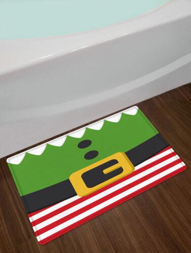 Christmas Leprechaun Goblin Funny Costume Waterproof Fabric Shower Curtain Set