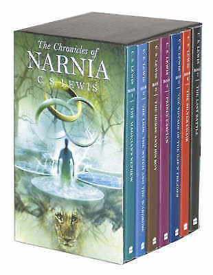 1 of 1 - C S LEWIS THE CHRONICLES OF NARNIA 7 BOOK BOXSET 2002 UNREAD LION WITCH WARDROBE