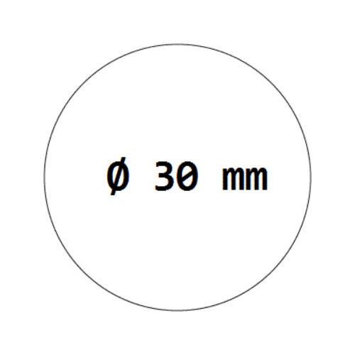 2000 Verschlussetiketten transparent auf Rolle 30 mm besonders stark haftend
