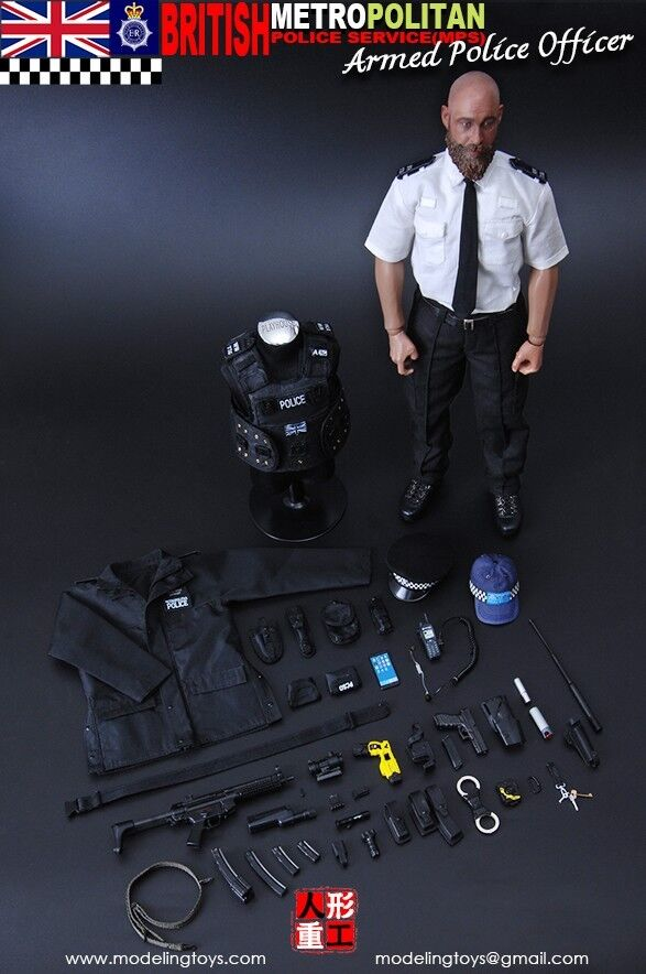 MODELING TOYS - 1/6 - BRITISH METROPOLITAIN  POLICE SERVICE ARMED POLICE OFFICER