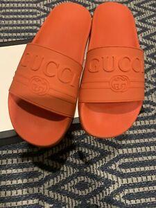 Gucci women orange pursuit logo rubber