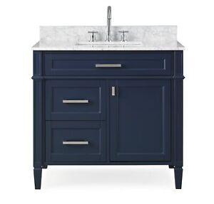 36 Tennant Brand Durand Modern Navy Blue Single Sink Bath Vanity Zk 1808 V36nb Ebay