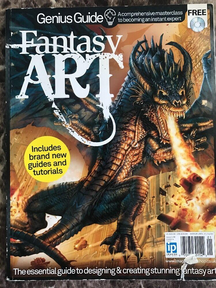 Fantasy Art Genius Guide Magazine W Free Disc 2013