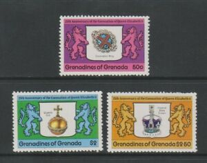 Grenada Grenadines - 1978, Coronation set - MNH - SG 272/4
