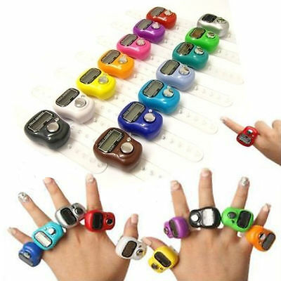 Digital Finger Rings Tally Counter Hand Held Knitting Row Counter CLICKER TASBEE