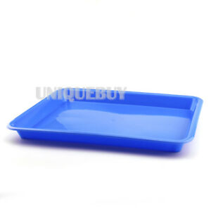 Dental Flat Plastic Instrument Tray 9 Inch Plastic Tray Multicolor
