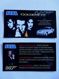 * * 'GOLDENEYE' Sega 1996 Custom Instruction/Apron Cards (New)