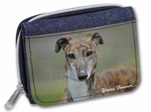 Brindle Greyhound /'Yours Forever/' Girls//Ladies Denim Purse Wallet Chr AD-GH7yJW