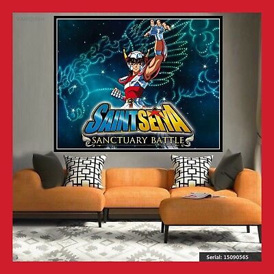 AFFICHE TOILE SAINT SEIYA POSTER PEGASE FIGURINE 12 CHEVALIERS D'OR DU ZODIAQUE
