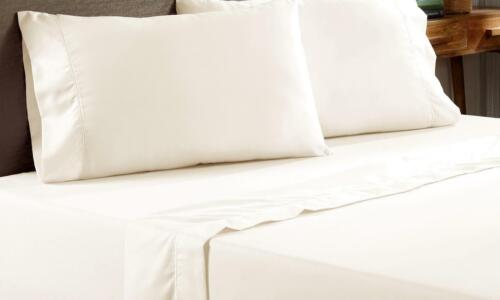 Queen Size Bed Sheet Luxury  400-Thread Count 100/% Cotton Sheet Set up to 18/'/'