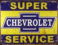 Desperate Enterprises Super Chevy Service Collectible Metal Sign, Model 1355 , on sale