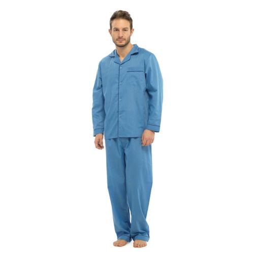 Para Hombre Poliéster//Algodón Pijamas /& Tallas Para Hombre Pijama Pequeño a 8XL Nuevo