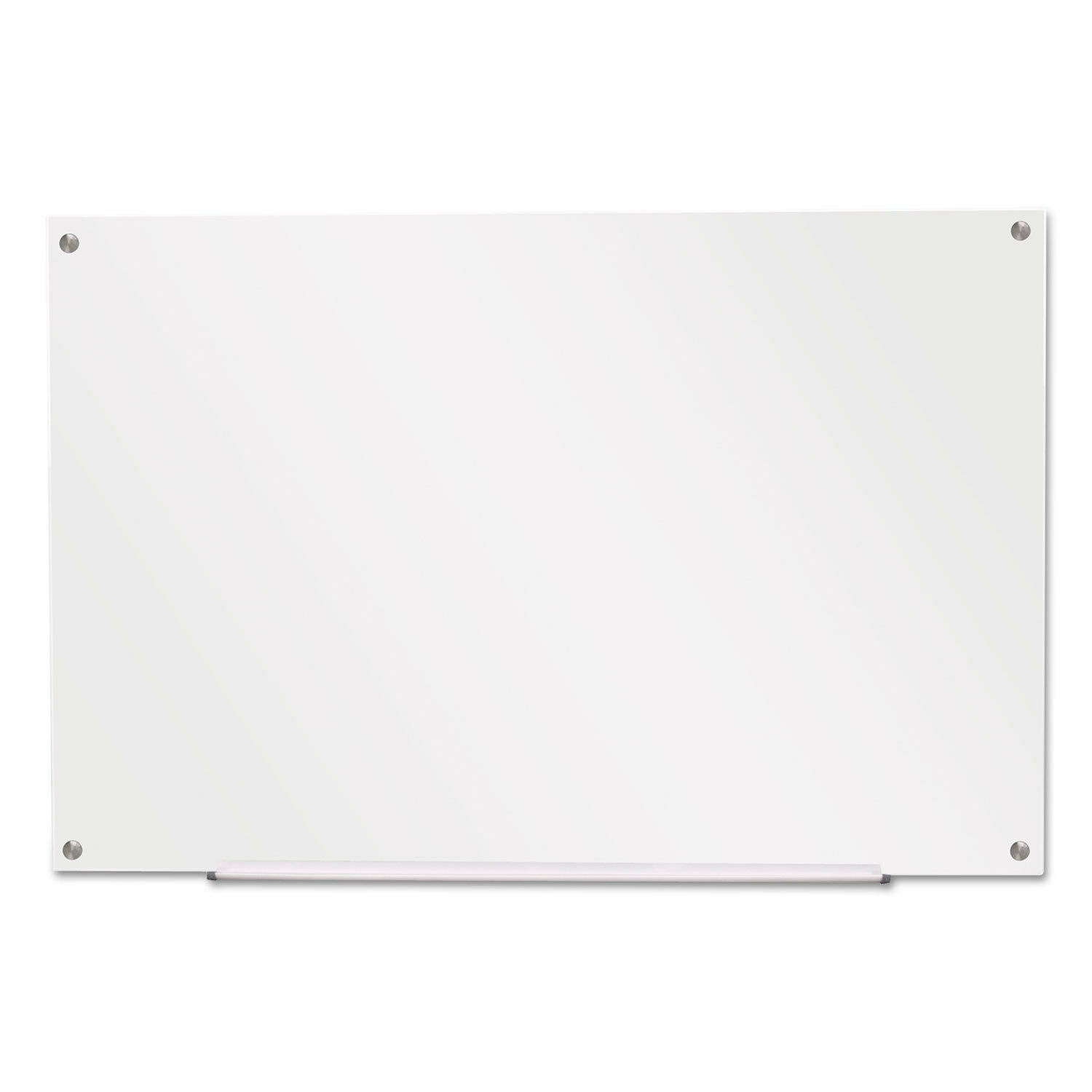 Universal Frameless Glass Marker Board 36  x 24  White 43232