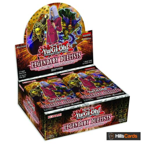 YuGiOh Legendary Duelists Ancient Millennium Sealed Booster Box of 36 Packs