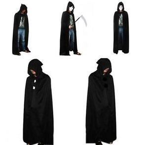 image is loading pop new women men black hooded cape long - Halloween Costumes With A Cape