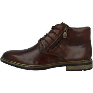 Details zu Rieker Nobel Schuhe Herren Antistress Halbschuhe Boots Schnürer brown F1233 25