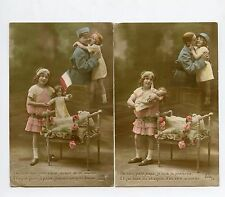 WW1 . 2 Cpa .  Guerre .  Patriotique . Poupée.Jouet. Doll .Old toys Patriotic .