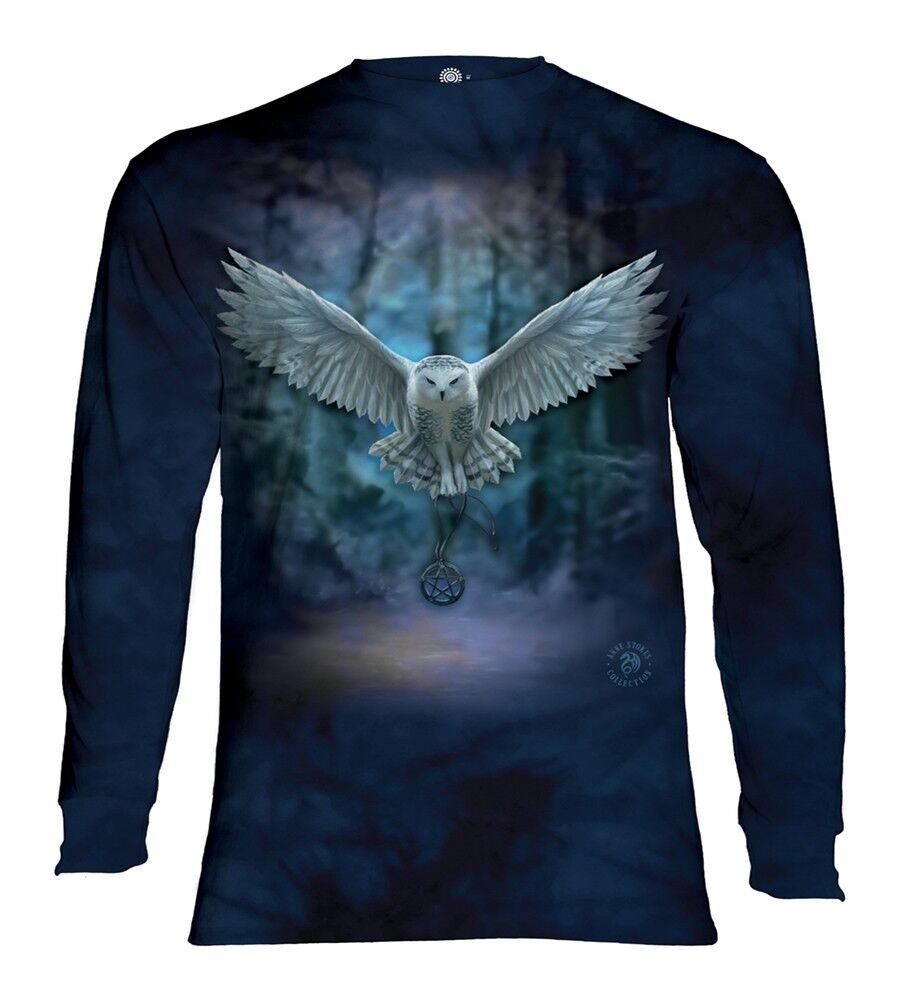 The Mountain Adult Awake Your Magic Owl Longsleeve T Shirt
