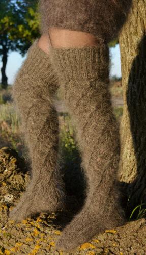 Stockings Socks 100/% goat down  fuzzy  soft leg warmers Mohair Angora Cashmere