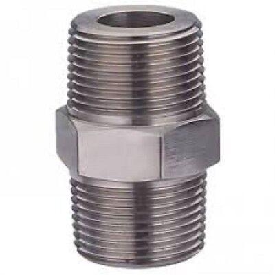 Tappo con Niples Inox diametro 38 Niples 16 mm Kit da 5 Pezzi