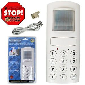 Motion Activated Alarm With Auto Dialer Record Messages