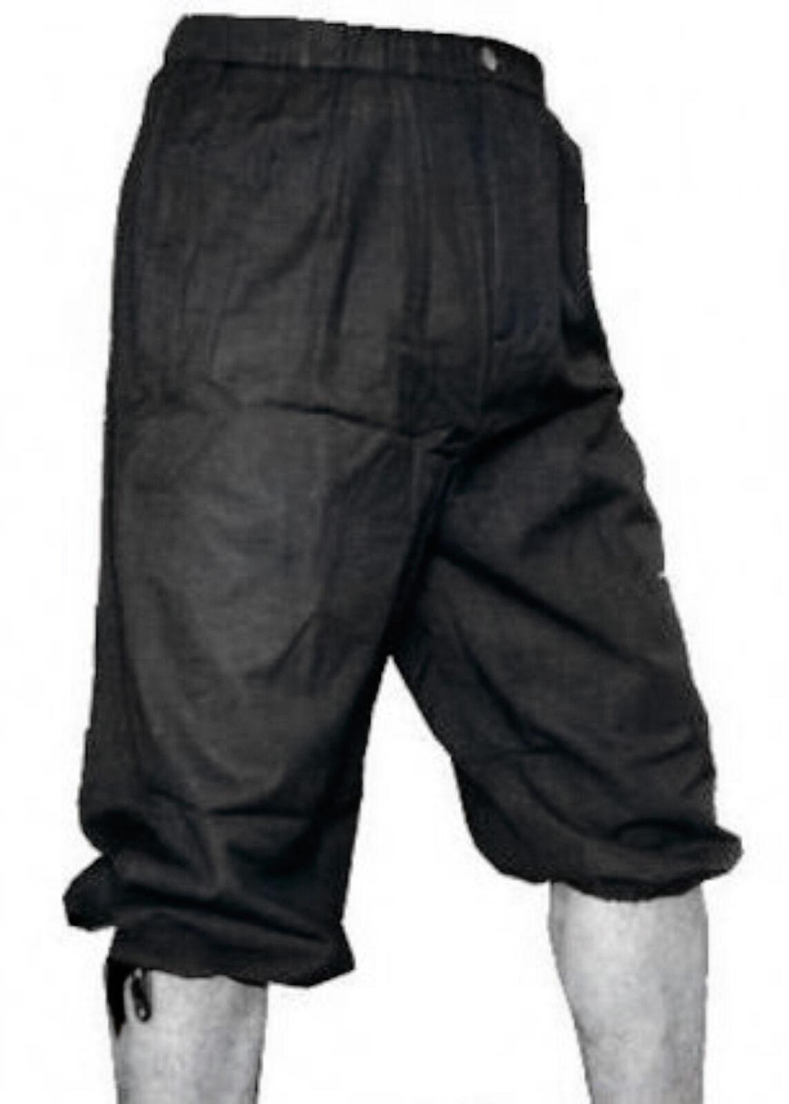 Knickerbockers, black, Medieval LARP Pants Trousers Shorts Garment Costume