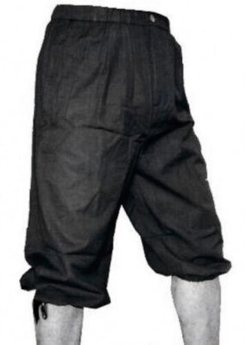 Knickerbockers black Medieval LARP Pants Trousers Shorts Garment Costume